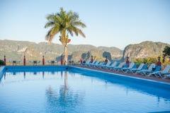 Vinales-Tal, Swimmingpool lizenzfreies stockfoto