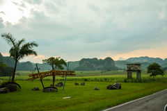 Vinales tobacco fields, Cuba. Vinales (or Viñales). An small town situated in north Cuba stock photography