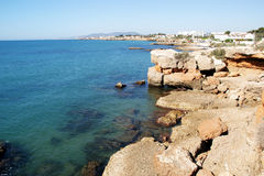 Vinaroz-Mittelmeerstadt in Spanien Stockbilder