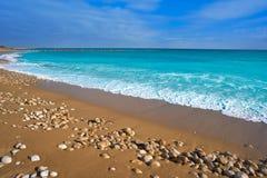 Vinaroz Playa del Forti beach in Castellon royalty free stock image