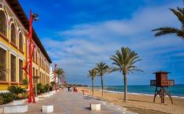 Vinaroz Playa del Forti beach in Castellon royalty free stock photography