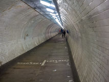Vinatage pedestrian tunnel under the Thames in Greenwich Village Royalty Free Stock Photo