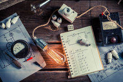 Vinateg physics Laboratory in technical electrical Stock Images