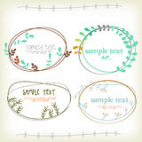 Vinateg Text box with flower. Vinateg Text box with ornament design Royalty Free Stock Image