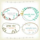 Vinateg textask med blomman vektor illustrationer