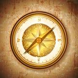 Vinatge antique golden compass Royalty Free Stock Images