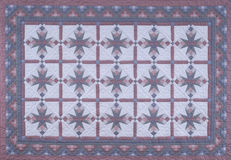 Vinatge Blue Quilt Fabric Stock Image