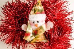 Vinatge Christmas decoration. On a white background Royalty Free Stock Images