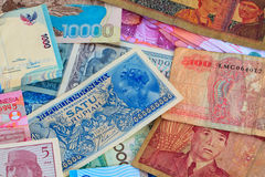 Vinatge Indonesian Currency Stock Images
