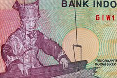 Vinatge Indonesian Currency Royalty Free Stock Image