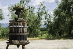 Vinatge olive press Royalty Free Stock Image