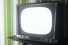Vinatge TV closeup vector illustration