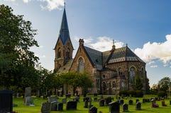 Vinbergs-Kirche bei Falkenberg Schweden Lizenzfreies Stockbild