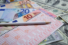 Vinca la lotteria Fotografia Stock