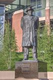 Statue of Coach Vince Lombardi. Outside Lameau Field in Green Bay, Wisconin, USA royalty free stock images