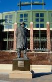 Vince Lombardi Statue. This is an early Spring picture of the statue of Coach Vince Lombardi outside Lambeau Field in Green Bay, Wisconsin. The fourteen foot stock photo