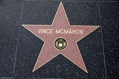 Vince McMahon star on Hollywood Walk of Fame Royalty Free Stock Photo