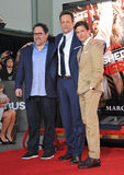 Vince Vaughn & Jon Favreau & James Marsden Stock Images