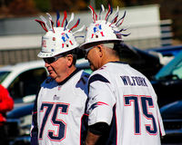 Diehard New England Patriots Fans! Stock Photography