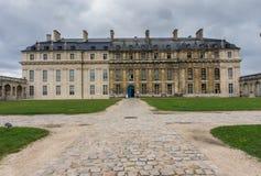 Vincennes,巴黎城堡的庭院  法国 皇家堡垒第14 - 17世纪 免版税库存照片