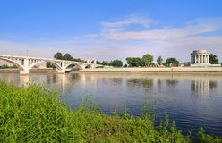 Vincennes city in Indiana. By Wabash river stock photo