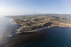 Vincent Point Aerial i Rancho Palos Verdes nära Los Angeles Cal royaltyfri foto