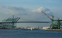 Vincent Thomas Bridge am Hafen von Los Angeles, Kalifornien Stockbild