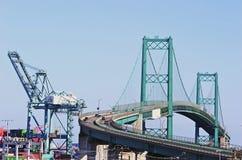 Vincent Thomas Bridge in San Pedro Stockfotos