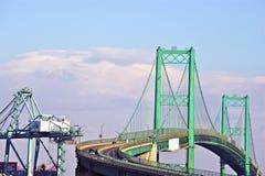 Vincent Thomas Bridge in San Pedro Stockfoto