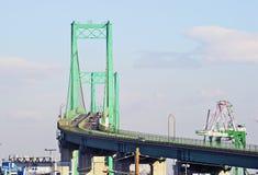 Vincent Thomas Bridge in San Pedro Lizenzfreie Stockfotos