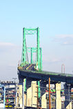 Vincent Thomas Bridge in San Pedro Lizenzfreies Stockfoto