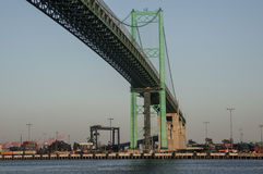 Vincent Thomas Suspension Bridge San Pedro Royalty Free Stock Photography