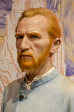 Vincent van gogh. In the famous wax museum Madame tussauds london, england Royalty Free Stock Images