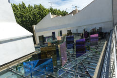 Vincent Van Gogh Foundation Arles-Dachglasskulptur Stockfotografie