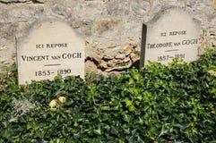 Vincent Van Gogh grobowiec w Auvers sura Oise zdjęcie royalty free