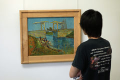 Vincent van Gogh no museu do Muller de Kroller, Otterlo Imagens de Stock