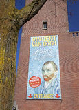 Vincent Van Gogh poster in Amsterdam. (Netherlands royalty free stock image