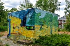 Vincent van Gogh Street Art painted on a brick wall stock photo