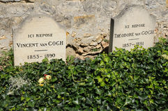 Vincent Van Gogh tomb in Auvers sur Oise Royalty Free Stock Photo