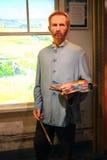 Vincent van Gogh-Wachsstatue stockbild