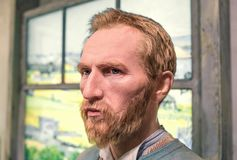 Vincent van Gogh wax figure in the Madame Tussauds museum in Amsterdam. Amsterdam, Netherlands - JANUARY 06, 2018: Vincent van Gogh wax figure in the Madame Stock Image