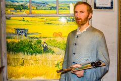 Vincent van Gogh wax figure, Madame Tussaud`s Amsterdam. Vincent Willem van Gogh was a Dutch Post-Impressionist painter who is among the most famous and royalty free stock image