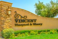 Vincent wytwórnia win i winnicy zdjęcie royalty free
