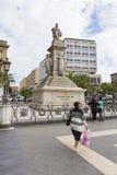 Vincenzo Bellini statue. Tourists admiring Vincenzo Bellini statue from Catania, Italy Stock Photo