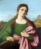 Vincenzo Catena: St. Catherine of Alexandria. Exhibited at the Great Masters Renaissance in Croatia in Zagreb, Croatia Stock Image