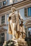 Vincenzo Gioberti`s statue, Carignano square, Turin, Italy Stock Photos