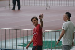 Vincenzo Montella, the chief coach of AC Milan in Guangzhou, China Stock Image