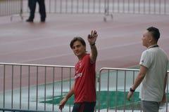 Vincenzo Montella, der Hauptzug von AC Mailand in Guangzhou, China Stockbild