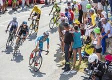 Vincenzo Nibali на Col du Glandon - Тур-де-Франс 2015 стоковые фотографии rf