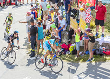 Vincenzo Nibali на Col du Glandon - Тур-де-Франс 2015 стоковое изображение